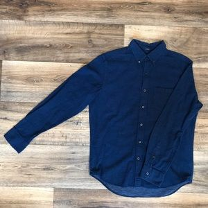 M AE Speckled LS Button Down